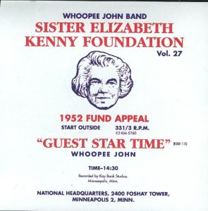"Whoopie John Vol. 27 "" Sister Elizabeth Kenny Foundation """