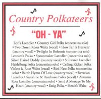 "Country Polkateers ""Oh Ya"""
