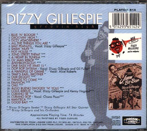 Dizzy Gillespie - Groovin' High - Click Image to Close